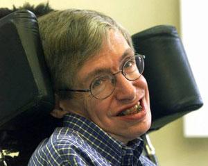 케임브리지 대학의 석좌교수인 스티븐 호킹. 그는 아인슈타인 이후 최고의 스타 과학자이다.