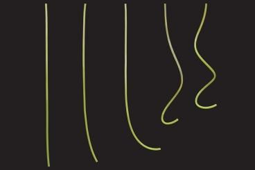곱슬거리는 정도를 조절한 결과. 오른쪽으로 갈 수록 생생한 곱슬머리를 확인할 수 있다. - JAMES MILLER AND PEDRO REIS 제공