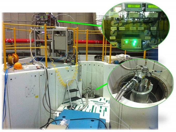 물질 속에 갇혀 있는 수소의 운동 상태를 측정하여 수소가 저장되는 위치와 원리를 연구할 수 있는 중성자 비행시간 분광장치. - 한국원자력연구원 제공