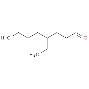염소의 페로몬으로 밝혀진 4-에틸옥타날 구조.
