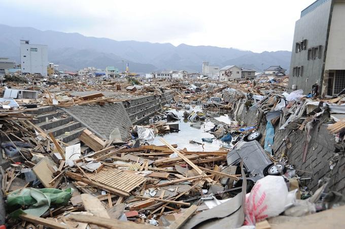2011년 3월 동일본 대지진 발생 직후 일본 혼슈 북동부 이와테현의 모습 - 위키피디아 제공