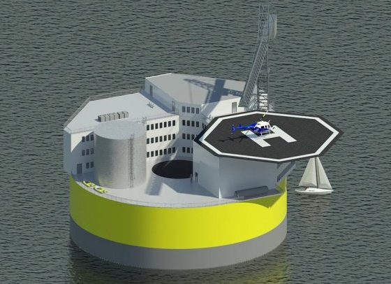 MIT에서 제안한 부유식 해양원전 개념도 - MIT 제공