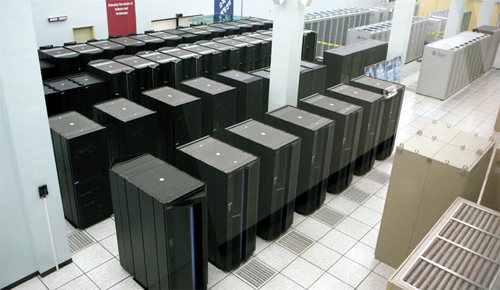 KISTI에 설치돼 있는 슈퍼컴퓨터 4호기 타키온-II의 모습. - 한국과학기술정보연구원 제공