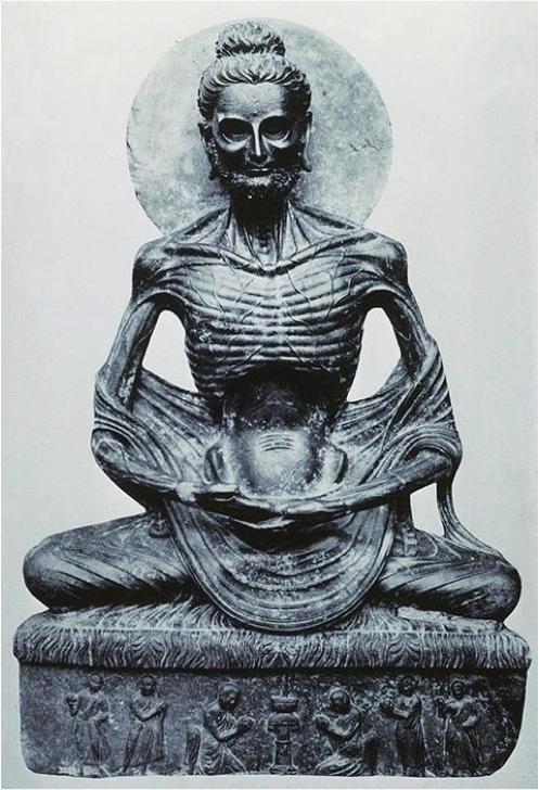 단식하는 부처(고행상). 2~4세기 제조된 석불로 시크리에서 출토됐다. 현재 파키스탄 라호르박물관에 전시돼 있다. - 라호르박물관 제공