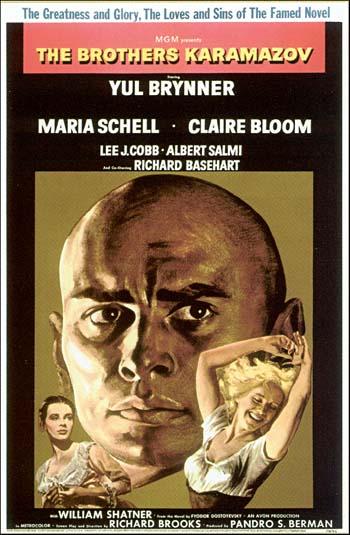 도스토예프스키의 마지막 장편 '카라마조프가의 형제들'은 여러 차례 영화로 만들어졌다. 율 브리너가 장남 드미트리로 나온 1958년 작품이 가장 유명하다. 이 작품에서 드미트리의 이복동생 스메르쟈코프의 뇌전증이 사건 전개에 중요한 모티브로 쓰이고 있다. - 위키피디아 제공