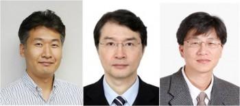 KAIST의 전석우 교수(왼쪽), 조용훈 교수(가운데), 유승협 교수(오른쪽)의 모습. - KAIST 제공