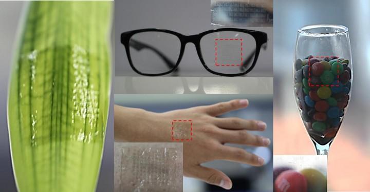 박장웅 UNIST 신소재공학부 교수팀이 개발한 투명 전자피부 - UNIST 제공