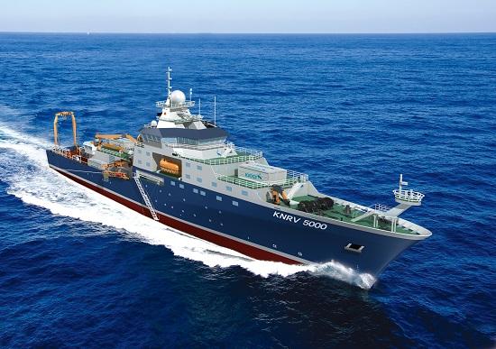 5000톤급 대형해양과학조사선 '이사부' 조감도.  - 해양과학기술원 제공
