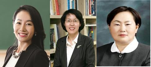함시현 교수(왼쪽), 임혜숙 교수(가운데), 유향숙 명예연구원(오른쪽) - 한국연구재단 제공