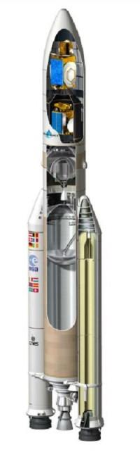 프랑스의 아리랑 5ECA 발사체 - 미래창조과학부 제공