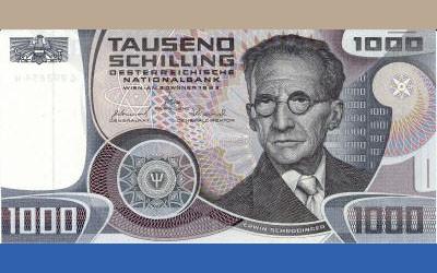 3_유로화를 쓰기 이전 오스트리아의 1000실링짜리 화폐에는 오스트리아 최고의 물리학자인 에르빈 슈뢰딩거가 그려져 있었다. 미국의 화학과 월터 무어는 1994년 출간한 저서 '슈뢰딩거의 삶'에서 슈뢰딩거가 간통이 창조적인 과학연구의 원동력이라고 믿었다고 쓰고 있다.  - (주)동아사이언스 제공