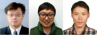 왼쪽부터 한국기초과학지원연구원 이주한, 이현욱 박사, 가천대 이영철 교수 - 기초과학지원연구원 제공