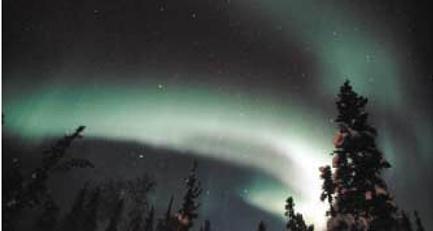 캐나다 북부 툰드라 지역의 밤하늘을 수놓은 오로라. - 동아일보 제공