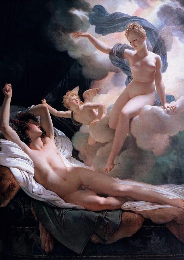무지개의 여신 이리스는 신의 뜻을 인간에게 알리는 전령이다. 이리스에서 이름을 딴 호르몬 이리신이 신화로 전락할 위기에 몰렸다. 프랑스 화가 피에르나르시스 게랭의 1811년 작품 '모르페우스와 이리스'.  - Hermitage Museum  제공