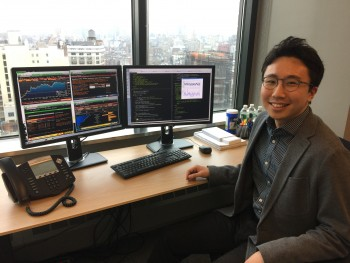 구종만 씨는 연세대 컴퓨터과학과를 졸업하고 2009년부터 미국 투자회사에서 알고리즘 트레이딩 프로그램 개발 업무를 담당하고 있다. - 구종만 제공