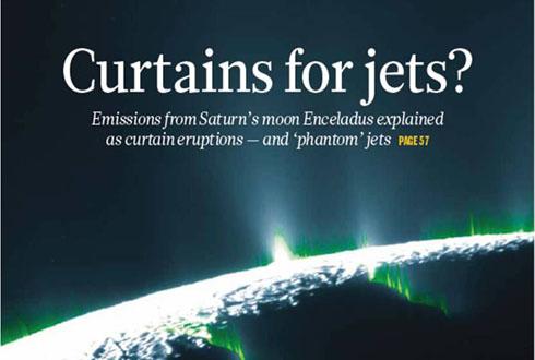 토성 위성 엔셀라두스, '커튼'처럼 물질 뿜는다