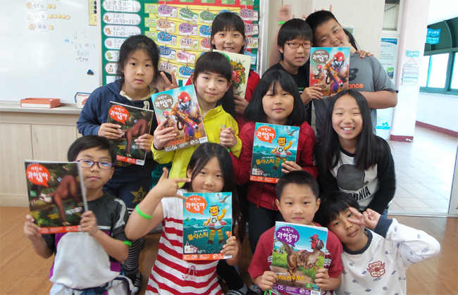 """제주 대정초 정혜은 교사는 """"'어린이과학동아'덕분에 책을 열심히 읽는 아이들이 많이 늘었다""""고 밝혔다. - (주)동아사이언스 제공"""