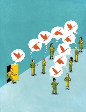 연구팀은 타인의 의견을 선택에 반영하지만, 자신의 주관적 가치와 일치해야 그 경향이 더 커진다는 것을 증명했다.  - Wesley Bedrosian 제공