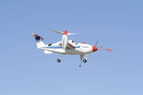 고속 수직이착륙이 가능한 무인기 틸트로터의 모습.  - 한국항공우주연구원 제공