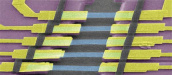 연구진이 개발한 그래핀 발광소자의 모습 - 한국표준과학연구원  제공