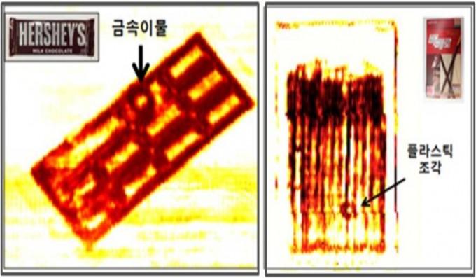테라헤르츠파를 이용해 식품 속 이물을 찾는 모습.  - 한국식품연구원 제공