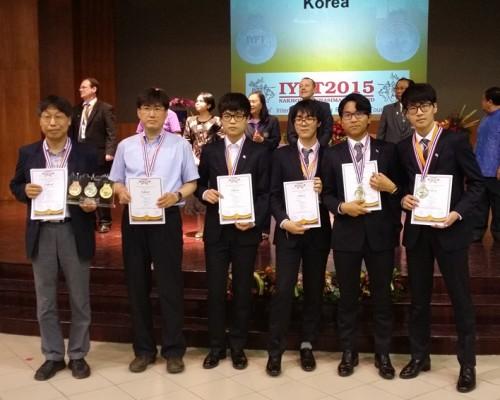 韓, 2015 국제청소년물리토너먼트대회(IYPT) 은상 수상