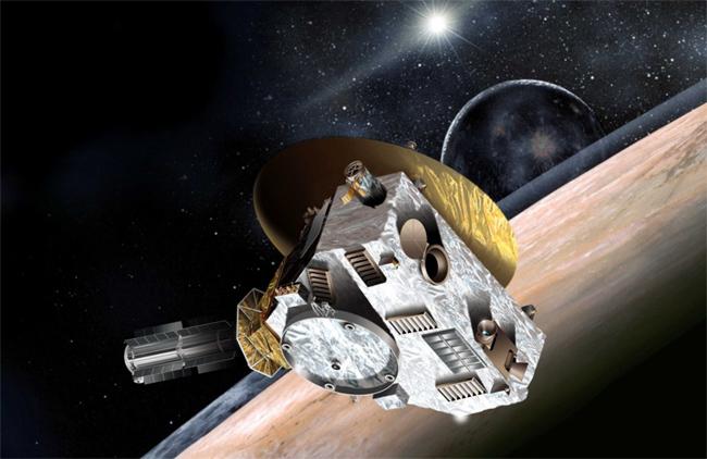 명왕성에 근접하는 뉴호라이즌을 표현한 그래픽 - NASA 제공