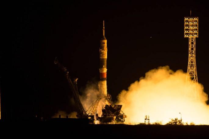 러시아 우주선 소유즈 TMA-17M의 발사장면. 러시아 바이코누르 우주기지에서 발사되고 있다 - NASA 제공