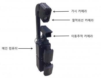 한국표준과학연구원이 개발한 CCTV는 기존 CCTV카메라에 쓰이는 가시카메라에 사람의 온도를 포착하는 열적외선 카메라, 그리고 피사체의 이동을 추적할 수 있는 카메라로 구성됐다. - 한국표준과학연구원 제공