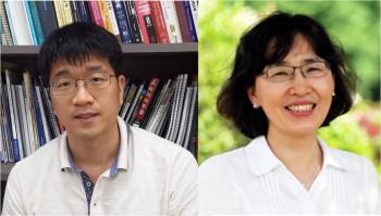 정대성 교수(왼쪽)와 김윤희 교수.  - 미래창조과학부 제공