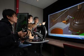 한국원자력연구원은 복잡한 원자력발전소의 해체 과정을 간접적으로 경험해볼 수 있는 3D 시뮬레이터를 개발했다. 이를 이용하면 북한 핵시설에 경제성과 안전성 측면에서 적합한 해체공정을 선정할 수 있다. - 한국원자력연구원 제공