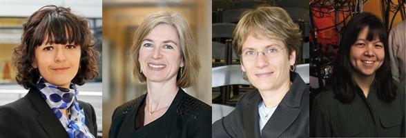 (왼쪽부터)엠마누엘레 샤펜티에르 스웨덴 우메오대 교수, 제니퍼 다우나 미국 버클리 캘리포니아대 교수, 캐럴린 베르토치 미국 스탠퍼드대 교수, 데버러 진 미국 국립표준기술연구소(NIST) 연구원   - (주)동아사이언스 제공