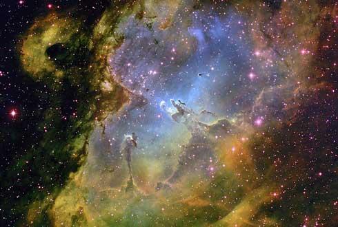 생명 창조의 기둥 품은 독수리, 자외선이 태아별을 유린하다