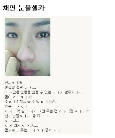 가수 채연의 감수성 터지던 시절 싸이월드... - 채연 싸이월드 제공