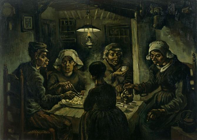 감자 먹는 사람들(The Potato Eaters), 빈센트 반 고흐, 1885년, 반 고흐 미술관 - wikimedia commons 제공