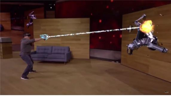 마이크로소프트의 홀로렌즈 시연 동영상 중 - 마이크로소프트 제공