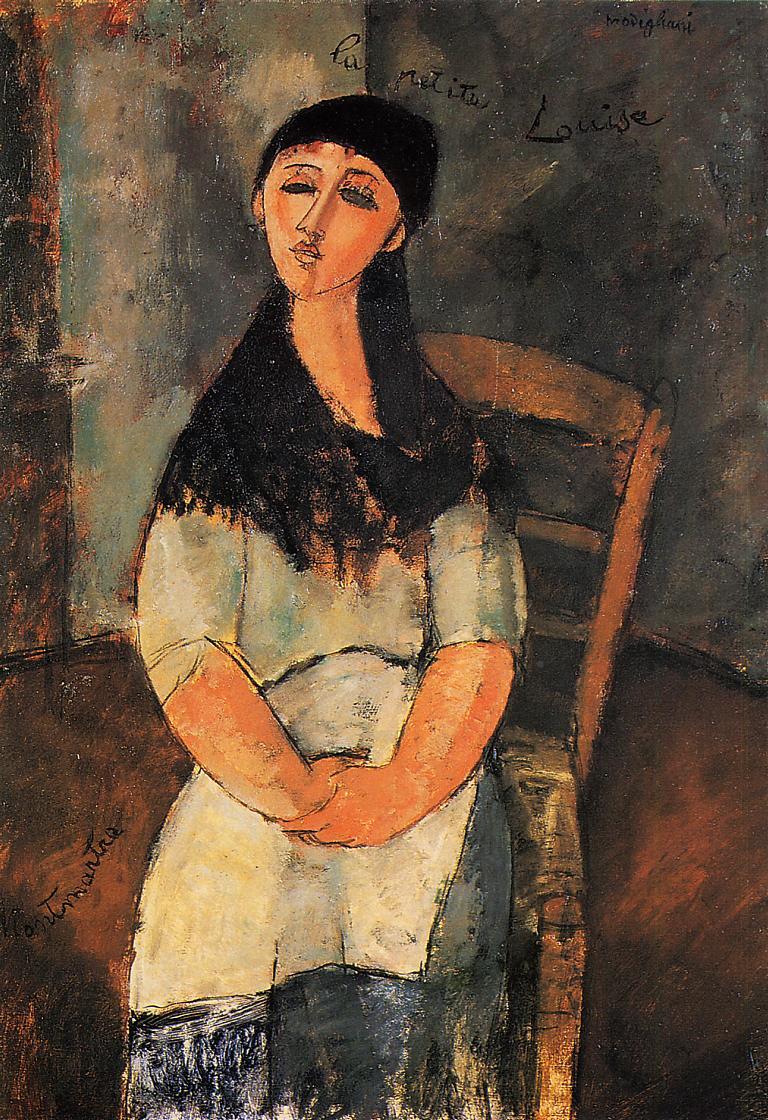 작은 루이스. 모딜리아니는 루이스의 초상화에는 눈동자를 그려넣지 않았다. 텅 빈 눈은 아득한 내면세계를 나타낸다. - 위키미디어 제공