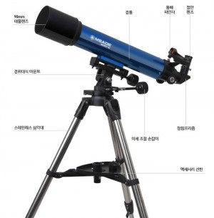 조작이 간편한 굴절망원경은 천체관측 초보자에게 권장하는 유용한 망원경이다.  - 과학동아몰 제공