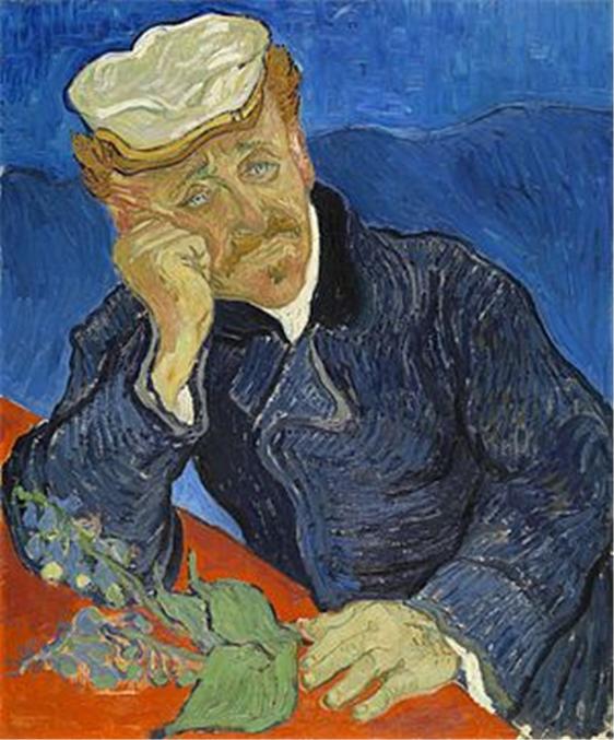 위조품으로 의심받는 '디기탈리스 가지를 든 가셰 박사의 초상'. - 오르세 미술관 제공
