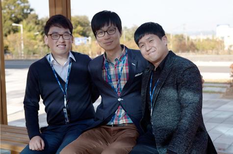 이들 3인방은 각자 자신의 분야 최고 전문가가 되길 희망한다. - 한국원자력통제기술원 제공