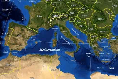 560만 년 전 지중해가 '소금사막' 됐던 이유는 '남극해 결빙'