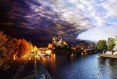 세계의 아름다운 석양 장면들