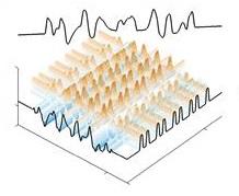 결정 물질의 구조를 초대칭 변환을 통해 무질서하게 바꿔서 얻은 초대칭 무질서 매질. - 박남규 교수 제공