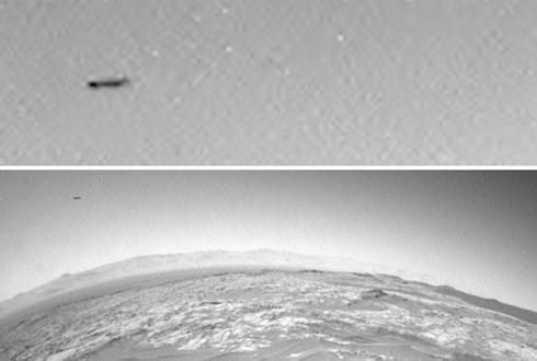 화성 하늘의 검은 비행체, 정체가 뭘까?