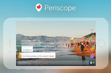 스마트폰으로 실시간 생방송을 하고 친구들이 함께 영상을 볼 수 있는 앱 페리스코프. 최근 트위터에 인수됐다. - 페리스코프 제공