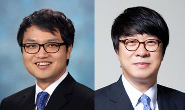 엄숭호 교수(왼쪽), 최정우 교수
