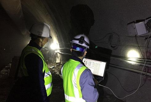 터널 공사 중 붕괴 위험, 실시간으로 확인