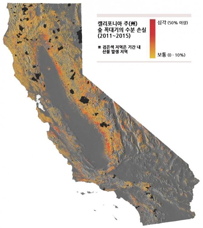 '카네기 공중 관측소'로 분석한 캘리포니아 지역 숲의 수분 손실정도 - 그레그 아스너 제공