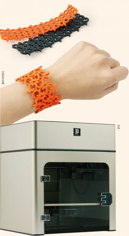 인체에 무해한 3D 프린터 기기와 재료를 개발하려는 노력이 국내에서도 시작됐다. 한 국내 화학회사는 유연성이 좋아 활용도가 높으면서도 인체에 무해한 FDM 프린팅용 소재(위)를 개발했고, 3D 프린터 제조 업체는 미세먼지 발생을 줄이려고 문을 달았다. - 동아사이언스, 로킷 제공