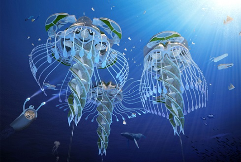 바다 쓰레기로 만드는 '미래의 해저 도시'